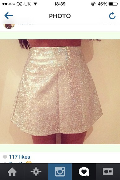 shiny skirt panel silver sparkle sparkles rainbow rainbow hollogram shiny skirt skater skirt sequin skirt miniskirt