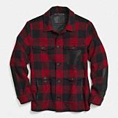 plaid wool shirt jacket