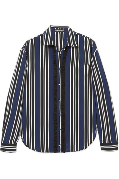 Markus Lupfer shirt navy silk top