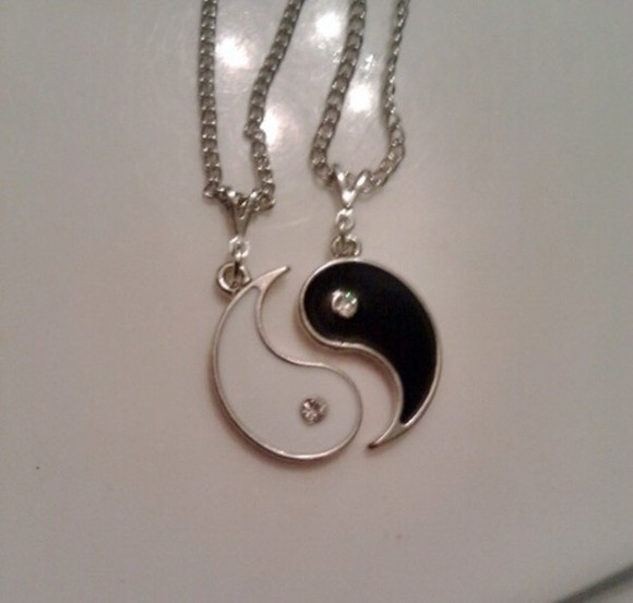 ying yang jewels cute necklace