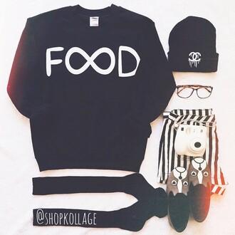 food leggings sweater