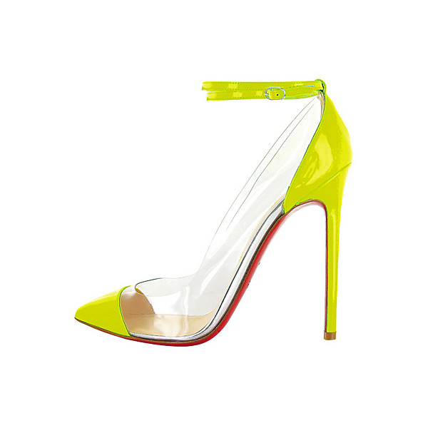 Christian Louboutin Cap Toe Lucite Heels - Polyvore