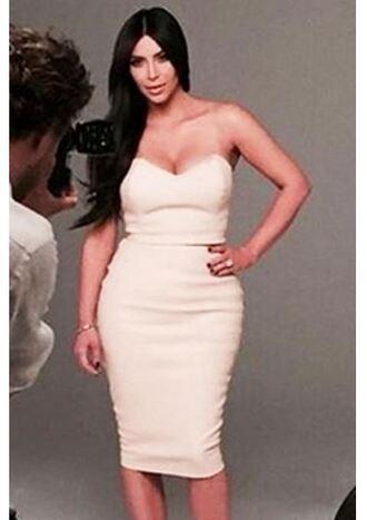 dress bodycon dress strapless bustier dress kim kardashian