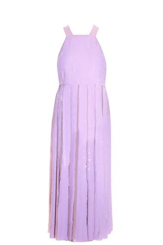dress sequin dress pink