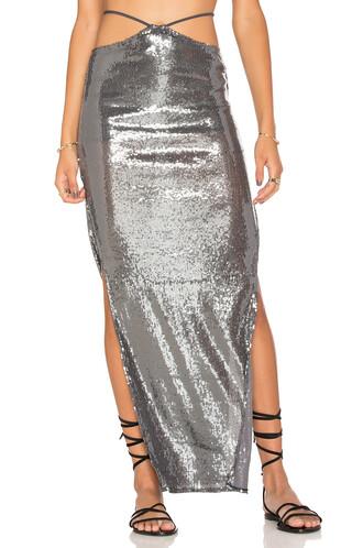 skirt maxi skirt maxi silver