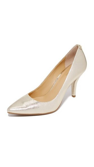 pale pumps gold shoes
