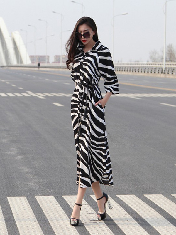 maxi dress long dress zebra dress streetstyle punk pop punk dress