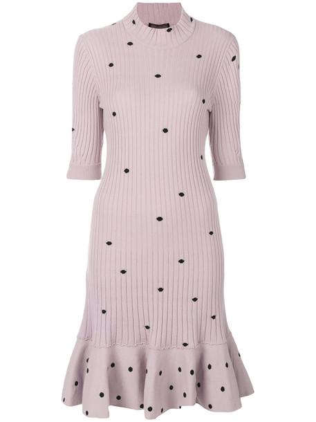 03534f238f0 Giambattista Valli polka dot sweater dress - Pink   Purple - Wheretoget