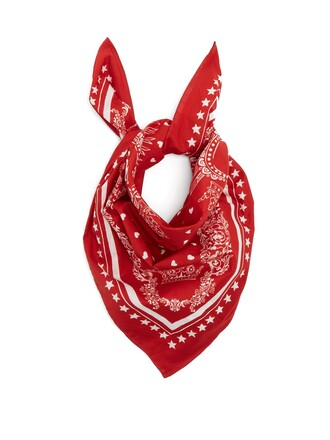 scarf cotton print red