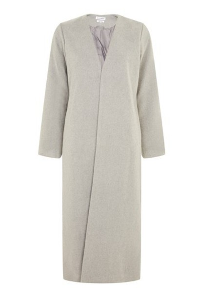 Topshop overcoat maxi grey coat