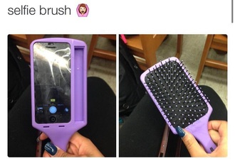 phone cover selfie iphone brush hair cute