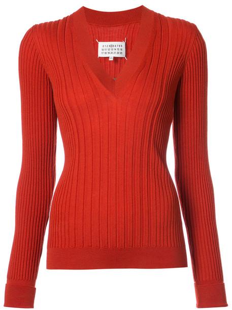 sweater women wool red