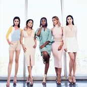 dress,nude,Fifth Harmony,camila cabello,Ally Brooke,lauren jauregui,Normani Kordei Hamilton,Dinah Jane Hansen,Dinah Hansen,sweater,skirt,top,shorts