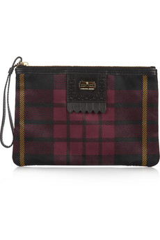 McQ Alexander McQueen Leather-trimmed tartan twill pouch - 64% Off Now at THE OUTNET