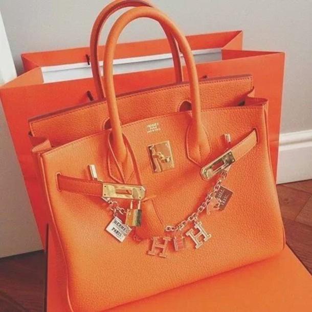 bag orange summer classy