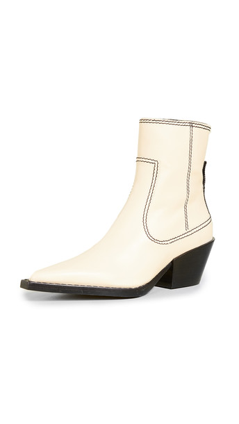 Joseph Rodeo Ankle Boots in ecru