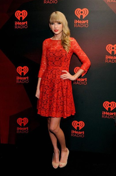 9cc04e6757b6 dress taylor swift celebrity dresses red lace prom dresses fit and flare dress  mini cocktail dresses