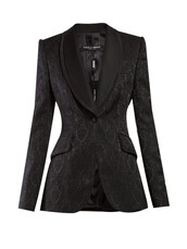 blazer,jacquard,floral,black,jacket