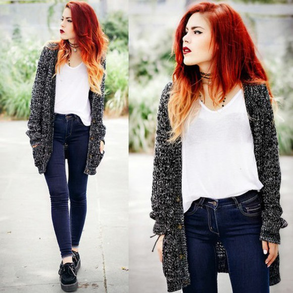 rock indie cardigan grunge perfect