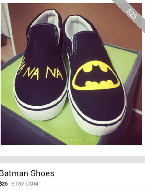 black shoes batman shoes