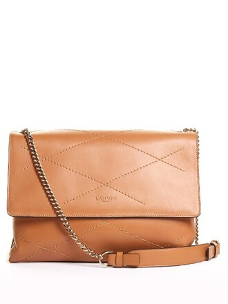 bag shoulder bag leather camel