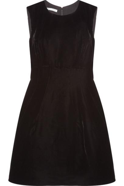oscar de la renta dress velvet dress black velvet