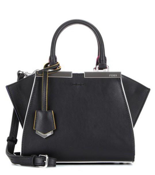 Fendi mini leather black bag