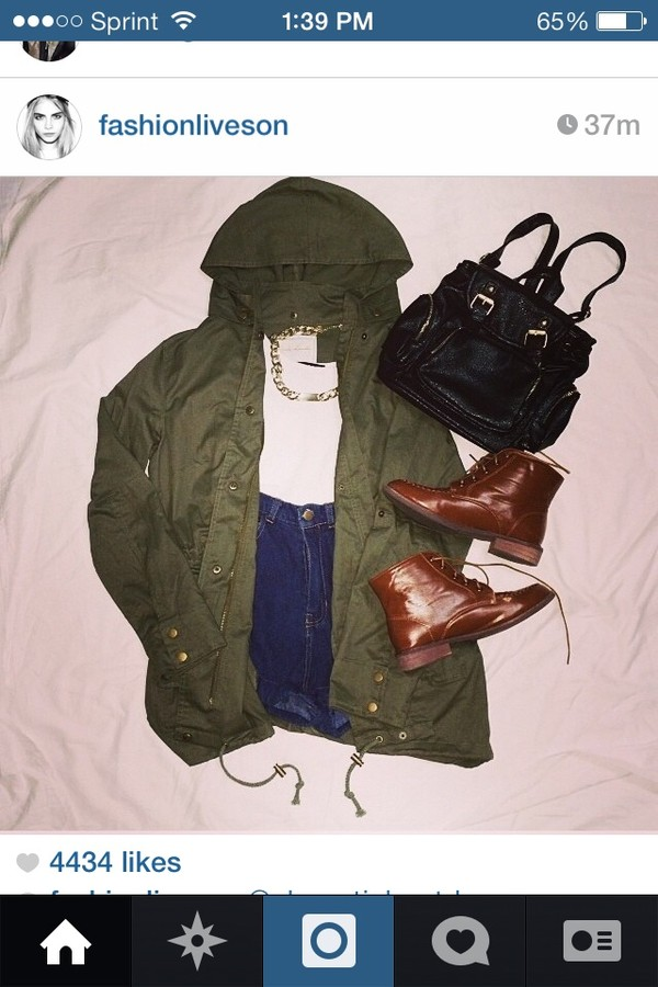 jacket fashion army green jacket boots shorts shoes
