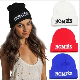 letters embroidered homies skullie mean girls women hats mens hat couple blouse hat