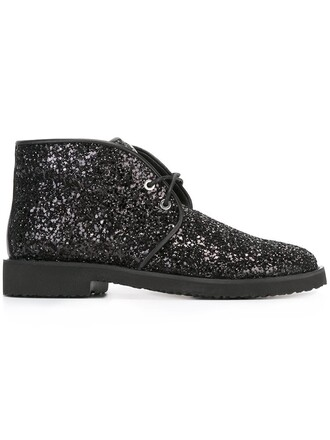 glitter boots lace up boots lace black shoes