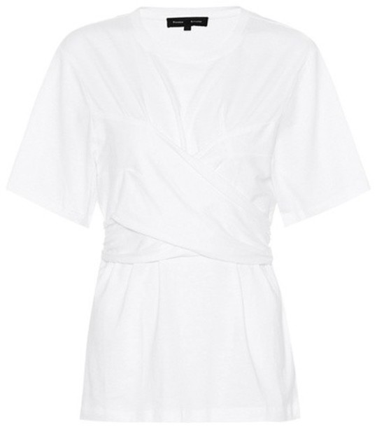 Proenza Schouler t-shirt shirt cotton t-shirt t-shirt cotton white top