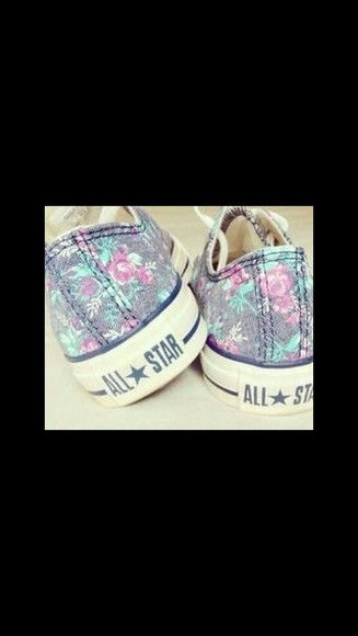shoes flower converse