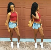 tank top,flawless_nikii,miami broad,baddies,shawty summer time fine,no stopping her,bag,shoes,shorts,jewels,mcm