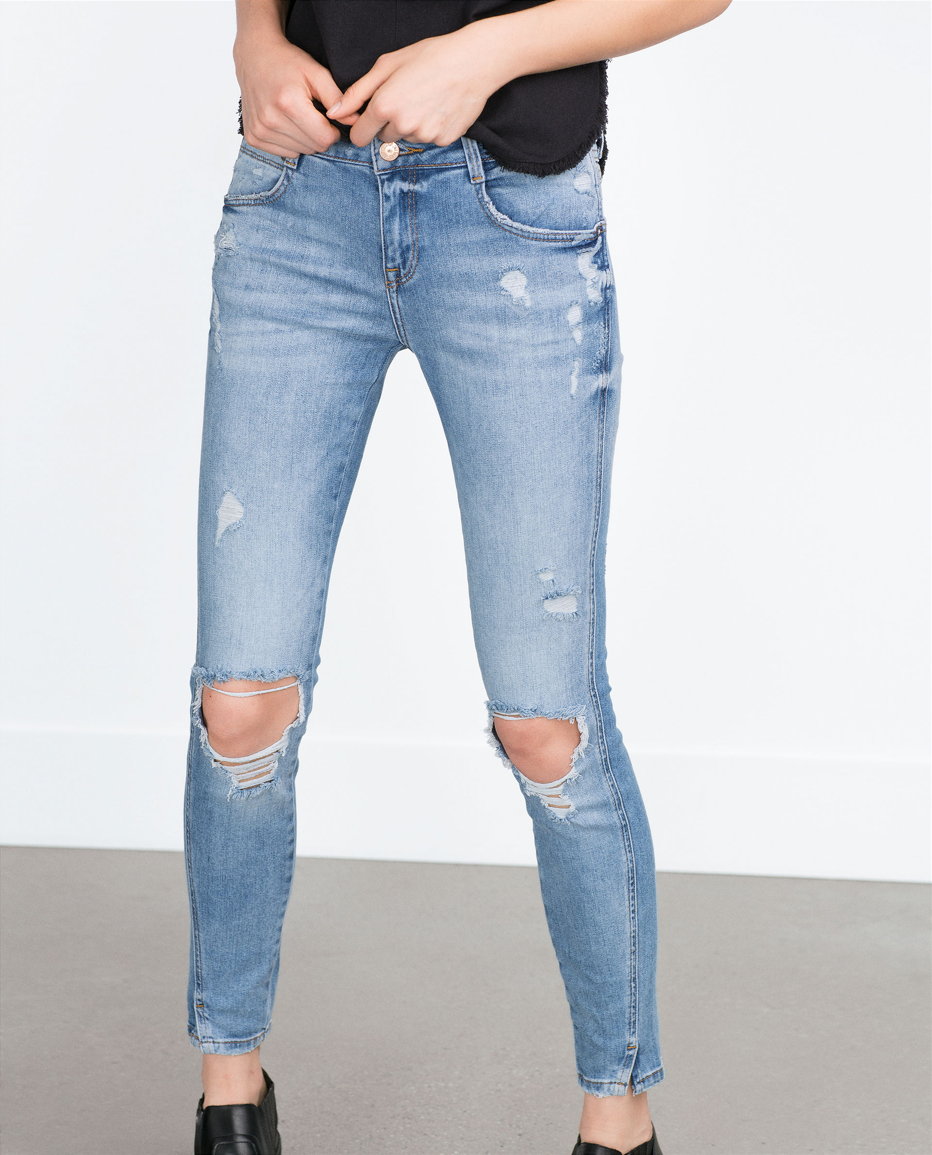 47ab47ff RIPPED SKINNY JEANS - Jeans - TRF | ZARA United States