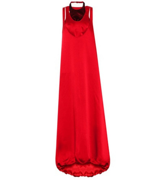 Valentino Sleeveless satin gown in red