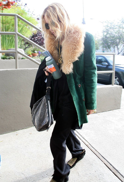 mary kate olsen olsen olsens green jacket