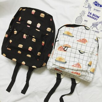 bag backpack back to school cool fashion style trendy black and white teenagers boogzel