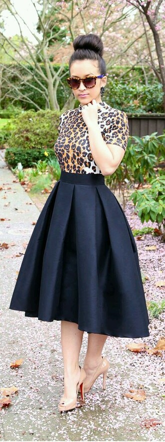 skirt tea-length skirt black black skirt midi skirt cute skirts tulle skirt
