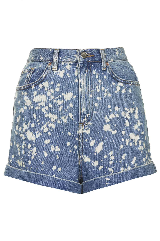 Moto bleach spray mom shorts