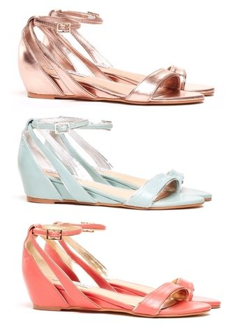rose gold mint green shoes coral wedge sandals metallic shoes