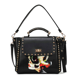 bag shoulder bag folk rivet