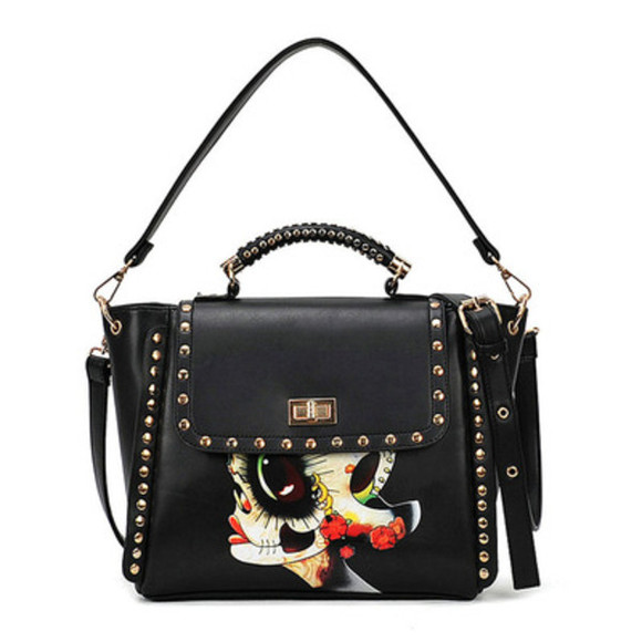 folk bag shoulder bag rivet
