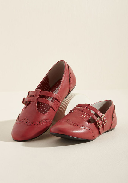straps retro forever flats leather flats leather red shoes