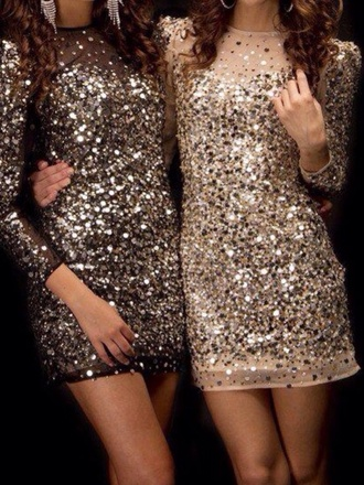 dress black dress with silver sparkles tan dress short tight nightlife printed city
