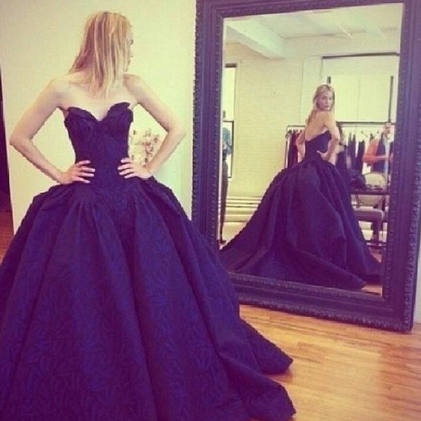 Navy Blue Ball Gowns