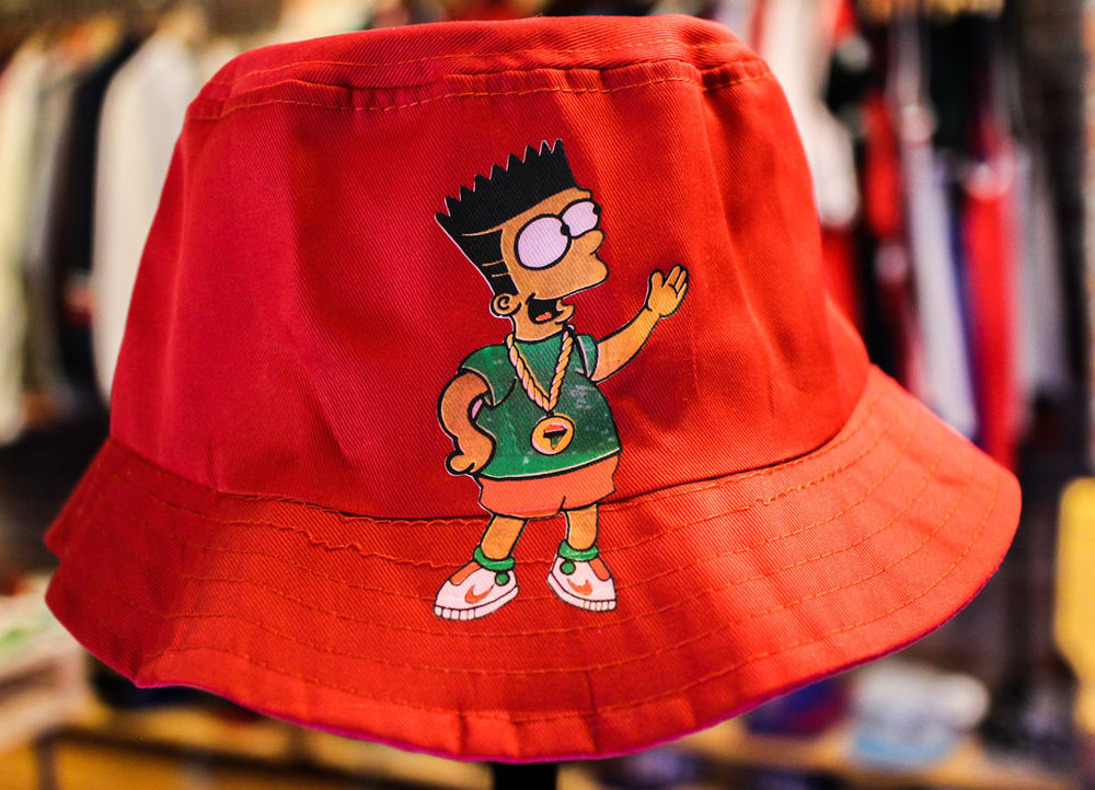 Bart Simpson Bucket Hat Hip Hop | eBay