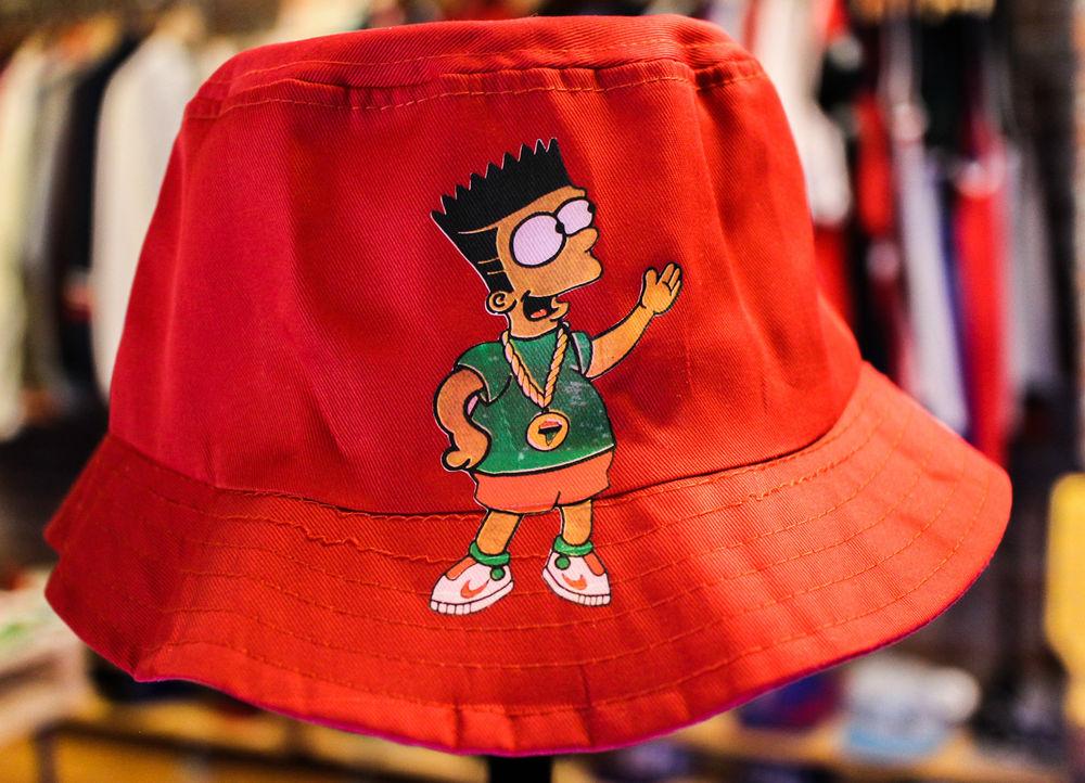 Bart Simpson Bucket Hat Hip Hop   eBay