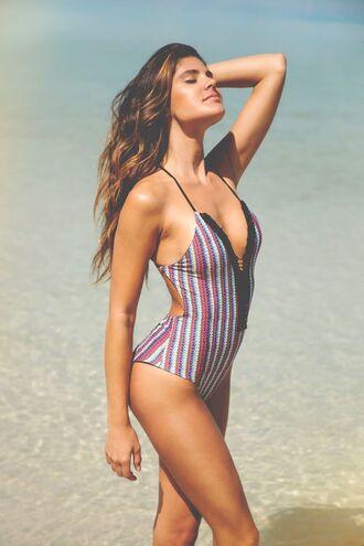 swimwear one piece swimsuit one piece swimwear two piece dope swimwear tropical swimwear stripes striped bikini crochet crochet bikini