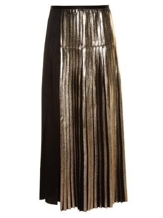 skirt pleated back satin black