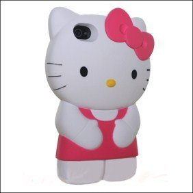 Amazon.com: MicroDeal 3d Silicone Gel Hello Kitty Iphone Case for Iphone 4/4s (Pink/White): Everything Else